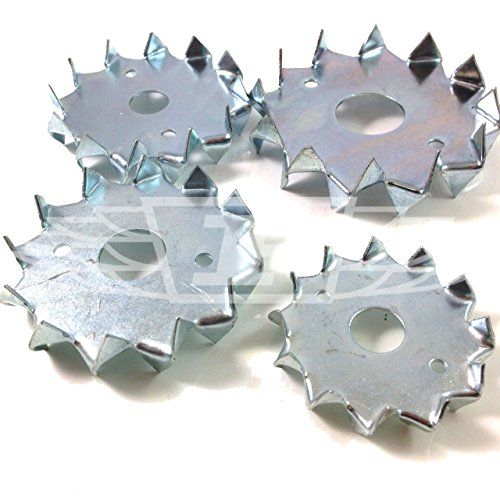Pack of 100 x M12 x 50mm Double Sided BZP Dog Tooth WASHERS