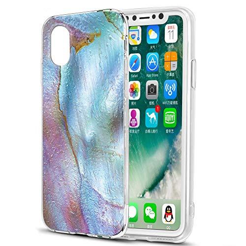 Pnakqil Hülle kompatibel mit Huawei Honor Play 8A Phone, Silikon Schutzhülle TPU Clear Transparent Kratzfest UltraDünn Stoßfest Muster Handyhülle für Huawei Honor Play 8A, Pink & Grün