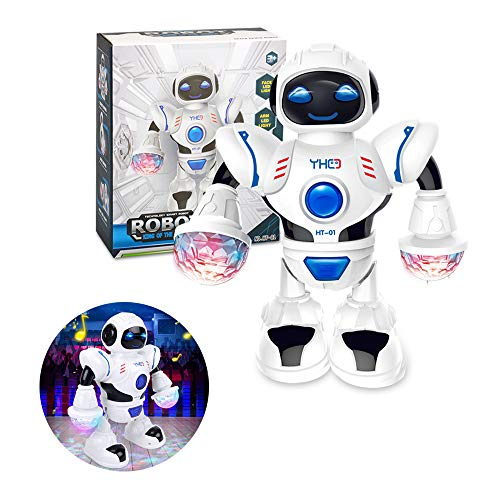 TDORA Toddler Robot Toy,Multifunctional LED Smart Robot Electric Dance Robot Kids Playmate Best Gift for Kids at Christmas and Birthday
