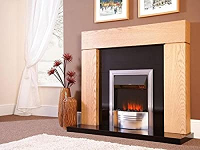 Celsi Accent Infusion Electric Fire | Flame Effect Hearth Mounted Fire - Chrome