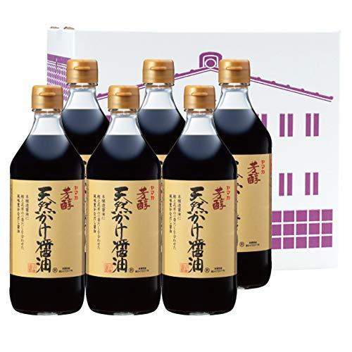 [川中醤油] だし醤油 芳醇天然かけ醤油 500ml 塩分ひかえめ 6本セットA-2