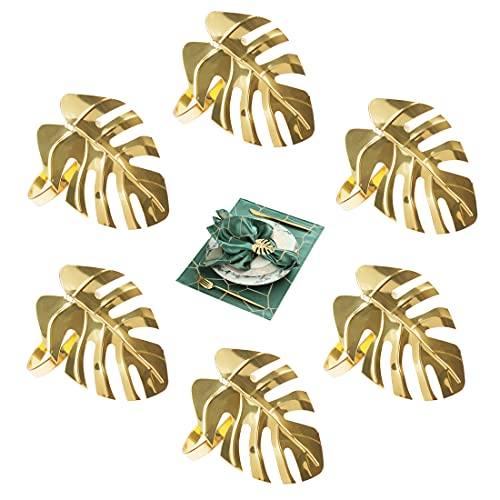 Anelli Portatovaglioli , 6 Pezzi Anelli Portatovaglioli oro Per La Festa Di Decorazione Della Tavola Dell'Hotel Matrimonio, metallo
