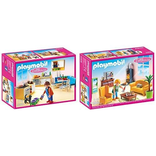 Playmobil 5336 - Einbauküche mit Sitzecke &  5308 - Wohnzimmer mit Kaminofen