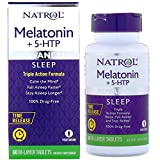 Natrol Advanced Sleep Melatonin + 5 HTP Bi-Layer Tablets, 60 Count (2 Pack)