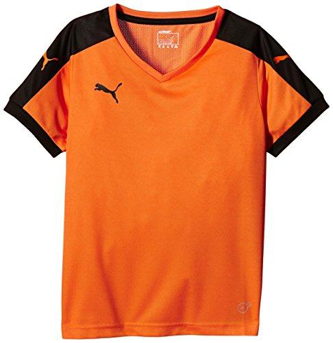 Puma Unisex-Kinder T-Shirt Pitch, Orange (Team Orange/Black), Gr. 11-12 Jahre (Herstellergröße: 152)
