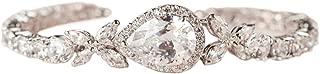 SWEETV Cubic Zirconia Teardrop Tennis Bracelets for Wedding Bridal Jewelry, Crystal Rhinestone Bracelets for Brides, Bridesmaid, Women