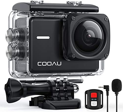 COOAU Native 4K 60fps 20MP Wi Fi Action Sports Camera with 8XZoom Upgraded EIS Anti Shake 40M product image