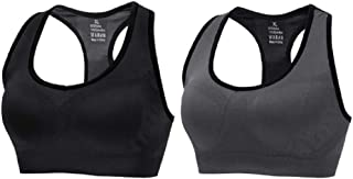 CLUCI Sports Bras for Women Racerback High Impact Seamless Support Activewear for Yoga Gym Fitness2 Pack