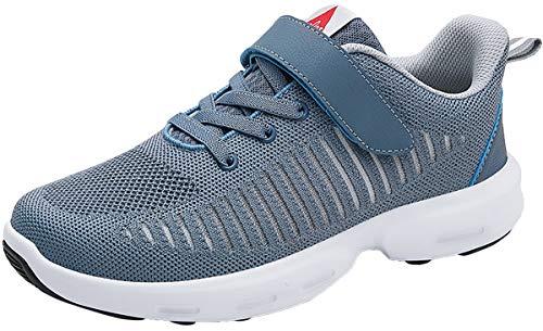 ZUSERIS Damen Herren Turnschuhe Laufschuhe Sportschuhe Sneaker Outdoor Straßenlaufschuhe Freizeitschuhe Atmungsaktiv Leichtgewichts Walkingschuhe Hell-Blau 42 EU = 43 CN