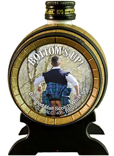 Mr Kiltie Miniatur Malt Schottisch Whisky Fass auf einem Stand Ideales Geschenk aus Schottland