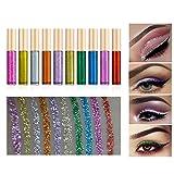 Ownest 10 colori Liquid Eyeliner glitter, metallico luccichio Glitter ombretto, duraturo impermeabile luccichio scintillanti Eyeliner Ombretti-10pcs