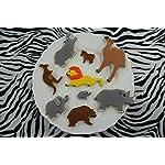 RM-International-1973-Zoo-Animal-Cookie-Cutters-Camel-Lion-2-Elephants-Kangaroo-Bear-Hippo-Rhino-Mini-Horse-9-Piece-Set