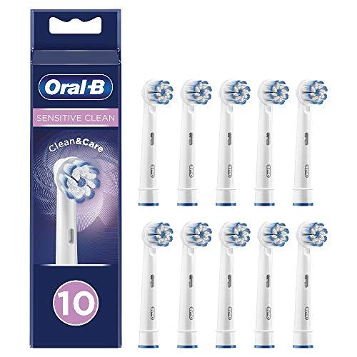 Oral-B 81727926 Sensitive Clean - Cabezales de recambio con tecnología CleanMaximiser, tamaño de buzón, Pack de10