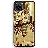 Basketball Cartoon - Silikon Hülle für Samsung Galaxy A12 - Motiv Design Sport Cool - Cover Handyhülle Schutzhülle Hülle Schale