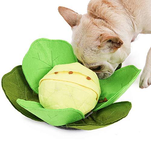 LWAN3 Schnüffelmatte für Haustiere, kohlförmig, waschbar, aus Filz, Anti-Erstickungsgefäß, für langsames Füttern