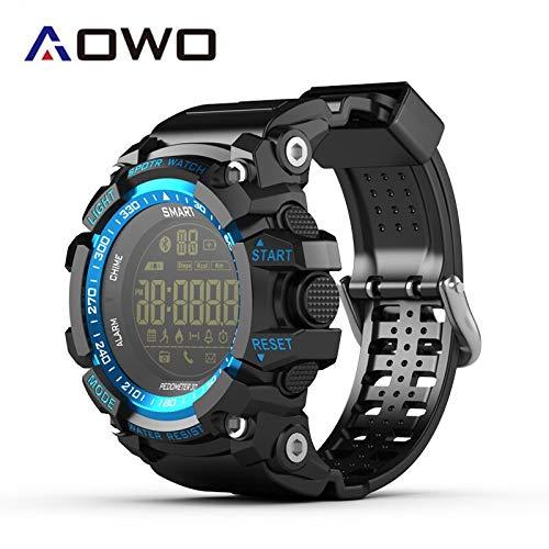 Aowo X6 Reloj Inteligente IP68 Hombres XWatch Mujeres Deporte Smartwatch Impermeable 5ATM LCD FSTN a notificación de SMS pasómetro para iOS (Océano Azul)