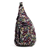 Vera Bradley Women's Signature Cotton Medium Sling Backpack, Itsy Ditsy, One Size