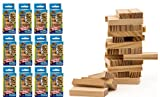 Wood Tumble Tower Travel Game Portable Pocket Board Games Mini (Pack of 12) by JARU. Assortment of Classic Toys Party Favors Toy  Item #3276-12p