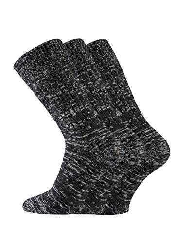TippTexx24 6 Paar Original-Jeanssocken für Damen & Herren (39-42, schwarz)