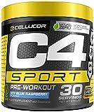 C4 Sport | polvere pre allenamento Lampone blu Icy | Integratore per uomini e donne | 135 mg caffeina + Beta-Alanina + Creatina | Prodotto certificato Informed-Sport | 30 porzioni
