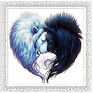 5D DIY Diamond Painting Kit Full Diamond Animal Couples The Wolf Diamond Cross Stitch Wall Stickers Home Decoration