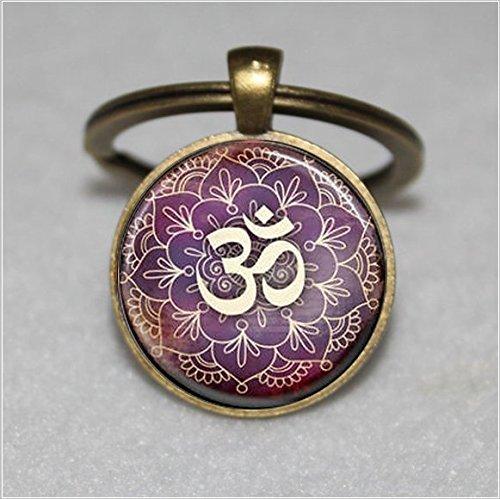 Baum des Lebens Schlüsselanhänger, Yoga Om, Aum, Zen, Meditation, Buddhismus, lila  Einzigartige Schlüsselanhänger Key Ring Geschenk  Everyday Schlüsselanhänger Key kette