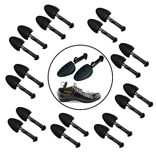 PHABULS 10 Pairs of Shoe Trees I Adjustable Length Shoe Trees for Men I Shoe & Boot Trees I Men Shoe Tree Stretcher Boot Holder Organizers I Shoe Form Plastic I Heel Support (10)