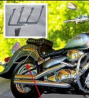 Chrome Motorcycle Saddlebags Luggage Navigator Bracket Steady Support Bars For HONDA VTX 1300/VTX 1800(modele C/F) from 2002 12cm distance