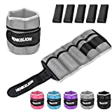 Henkelion 1 Pair 6Lbs Adjustable Ankle Weights for Women Men Kids, Wrist Weights Ankle Weights Sets...
