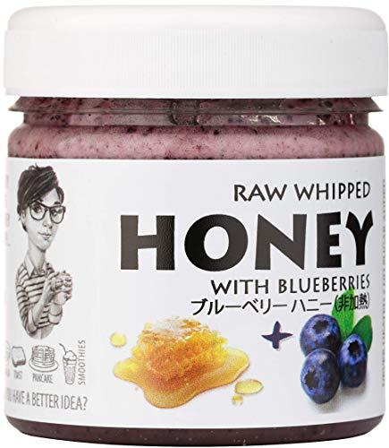 【Amazon.co.jp限定】 はちみつ 蜂蜜 ハチミツ 生 ブルーベリー 200g Raw Honey with Blueberry 200g