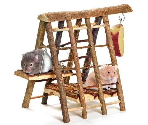 Karlie Klettergerüst aus Naturholz, Klettergerüst für Hamster und Mäuse