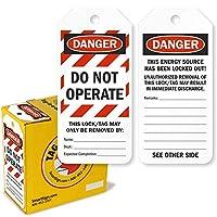 "SmartSign ""Danger - Do Not Operate"" 両面安全タグ   3インチ x 6.25インチ プラスチック 100タグ/ボックス"