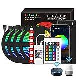 Smart Music Sync Induktion LED-Lichtleiste, kann per App und Fernbedienung gesteuert...