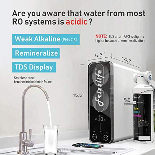 Frizzlife Reverse Osmosis Water Filtration System - Best Countertop Water Filter