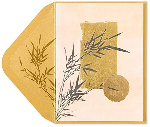 Papyrus Sympathy Cards Bamboo Asian Art, 1 Each