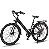 Macwheel 26' Electric Bike, 350W Brushless Hub Motor, Removable 36V/10Ah Lithium-ion Battery,...