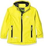 Trespass Qikpac Jacket, Yellow, 9/10, Kompakt Zusammenrollbare Wasserdichte Jacke für Kinder /...