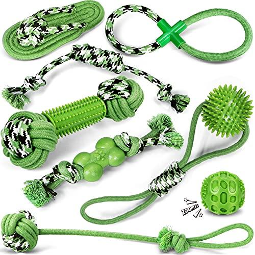 Hundespielzeug Seil, Kauspielzeug Hund, Hergestellt aus Natürlicher Baumwolle ungiftig und geruchlos Robust Besser für Zahnreinigung Geeignet für Welpen, kleine und mittlere Hunde Spielzeug quitschend
