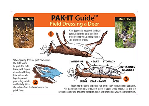 Ident-I-Cards PAK-IT Guide to Field Dressing a Deer