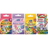 Tiritas infantiles / tiritas / rayas para niños en el juego - con divertidos motivos de colores - a elegir: multicolor - princesa - unicornio - animales - dibujos animados / multicolor