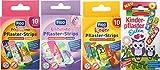 Kinderpflaster/Pflaster / Stripes für Kinder im Set - mit tollen bunten Motiven - wählbar: Kunterbunt – Prinzessin – Einhorn – Tiere - Cartoon/für Mädchen Kunterbunt