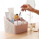 Organizador De Maquillaje Para Encimera, Cesta De Almacenamiento De CosméTicos De PláStico Con 5 Compartimentos Para Dormitorio, Cuarto De BañO, LáPiz Labial Duradero Estuche De Almacenamiento