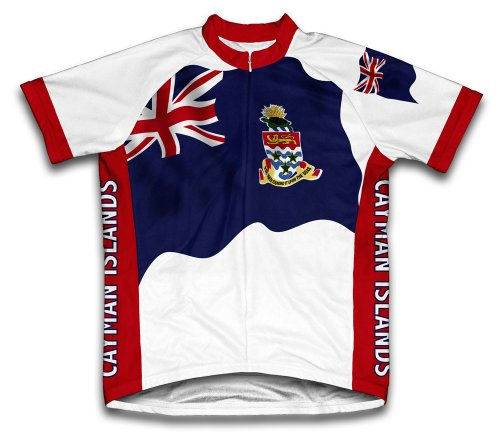 ScudoPro Cayman Islands Flag Short Sleeve Cycling Jersey for Women - Size L