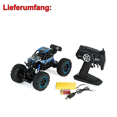 RC Auto kaufen Crawler Bild 5: 2,4Ghz RC ferngesteuerter 4WD Antrieb Crawler-Buggy, Kletterfahrzeug, Truck, Fahrzeug, Maßstab 1:14, Auto, Car, Komplett-Set*