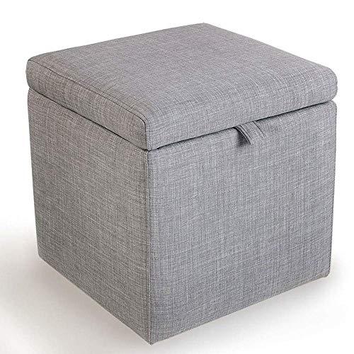 Productos para el hogar Almacenamiento plegable Banco otomano Asiento Reposapiés Taburete Asiento de picnic portátil Cubos versátiles que ahorran espacio (Tamaño: 43 * 43 * 45 cm) (color: Verde)