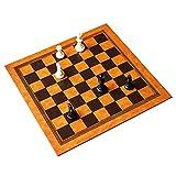 Cxcdxd Tablero de ajedrez de Cuero PU de Viaje, Juego de ajedrez Plegable portátil Tablero de ajedrez Enrollable para un fácil Almacenamiento para un fácil Juego al Aire Libre 33.7x33.7cm