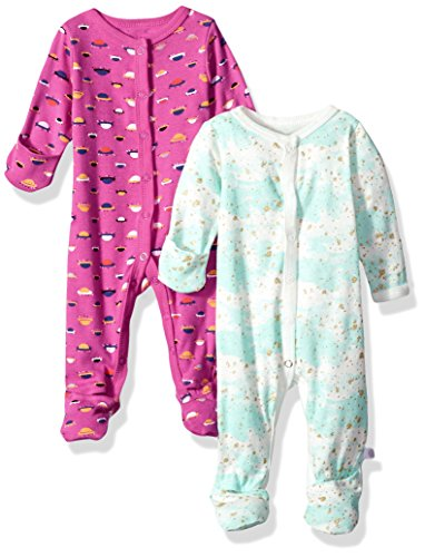 Rosie Pope Baby Girls 2 Pack Coveralls, Pink, 6-9 Months