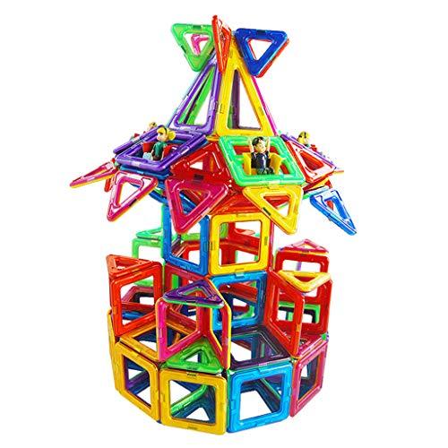 Briques de construction magnétiques, 169 pièces, blocs de construction à aimant magnétique 3-6-8 ans, jouets pour enfants et filles assemblés, pièces magnétiques de puzzle, envoyer une boîte de rang
