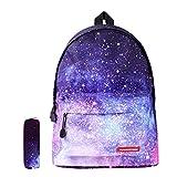 Schulranzen Schulrucksack Schultaschen Kinderruchsack Unisex Galaxy Backpack Jungen Mädchen...