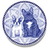 French Bulldog Dog Porcelain Plate For all Dog Lovers Size 7.61 inches
